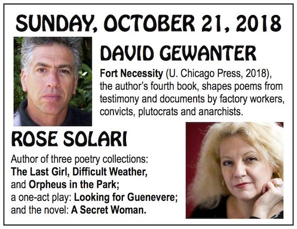 Rose Solari Talks with Acclaimed Poet David Gewanter